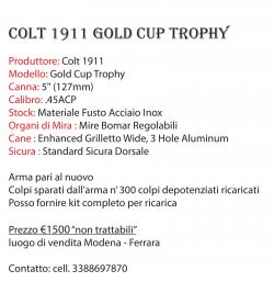 Colt mod. Gold Cup Trophy .45 ACP (4 FOTO)