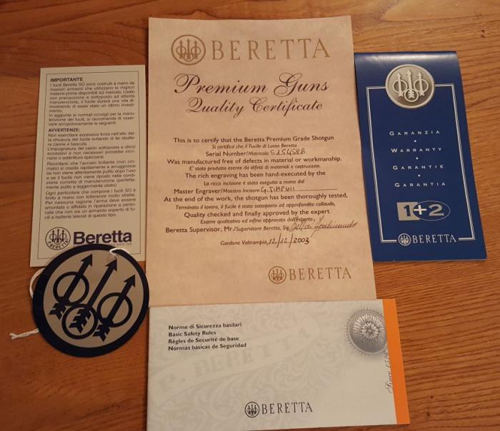 Beretta SO5 Luxury 8 Punzoni d'oro cal. 12