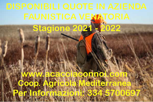 Quote in riserva di caccia 2021 – 2022