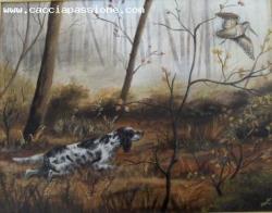 Ritratti di scene di caccia con il vostro cane .