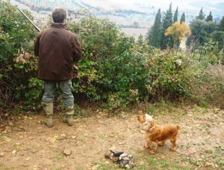 Cacciatore con cane