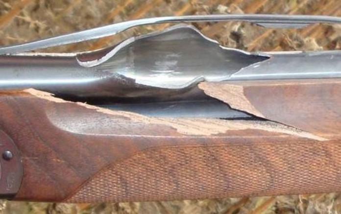 Scoppio canna fucile da caccia
