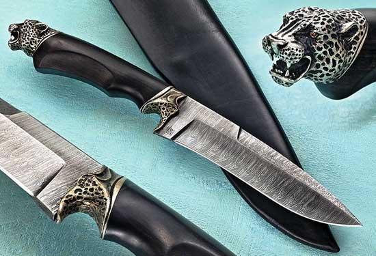 Caccia e coltelli l acciaio damasco a lama fissa caccia - Coltelli da tavola lama liscia ...