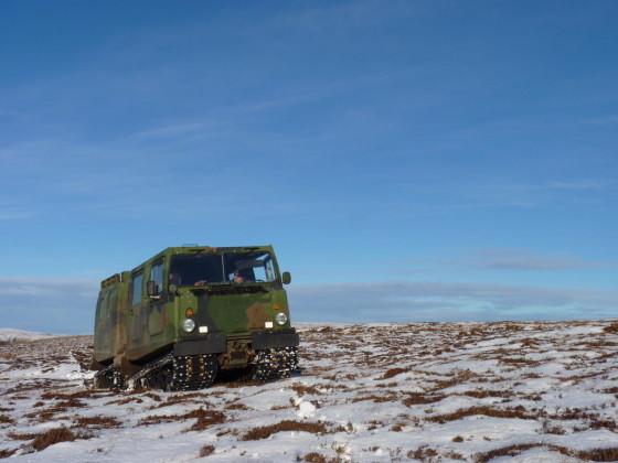 Pick up da caccia in Scozia