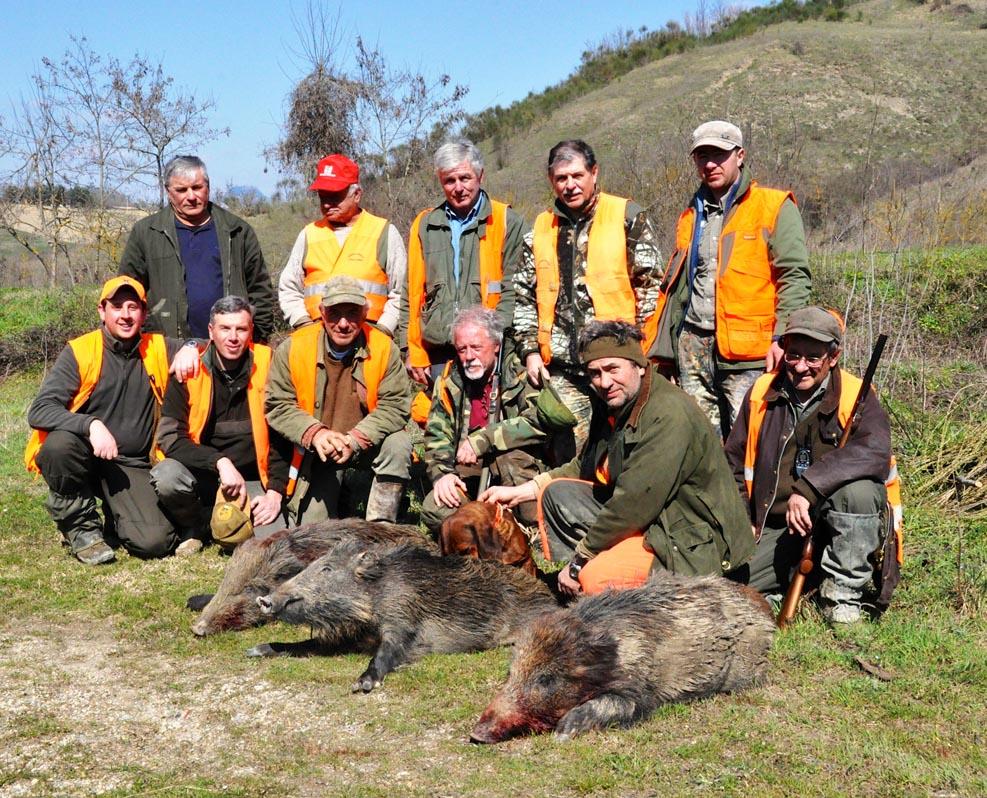 squadra caccia al cinghiale grosseto