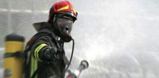 Vigili del fuoco esplosione poligono tiro