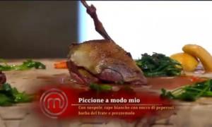 Cracco cucina un piccione