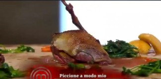 Cracco e il piccione cucinato