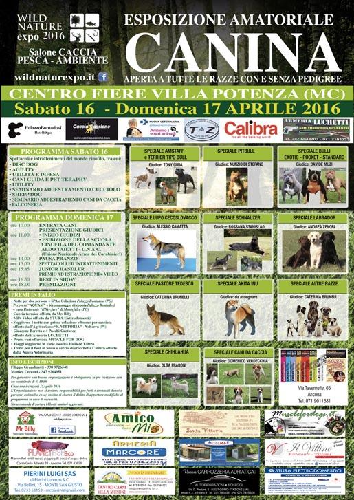 LOCANDINA MOSTRA CANINA 2016