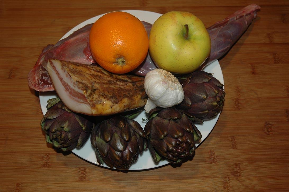 capriolo ripieno ai carciofi ingredienti