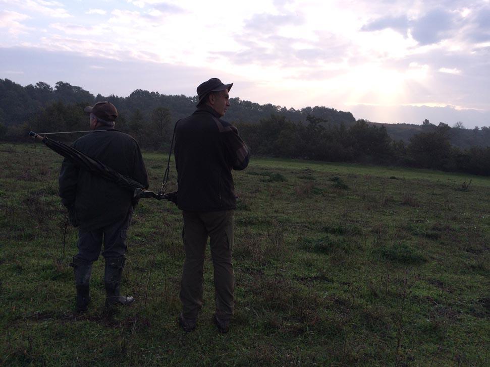 L'alba di una nuova giornata di caccia