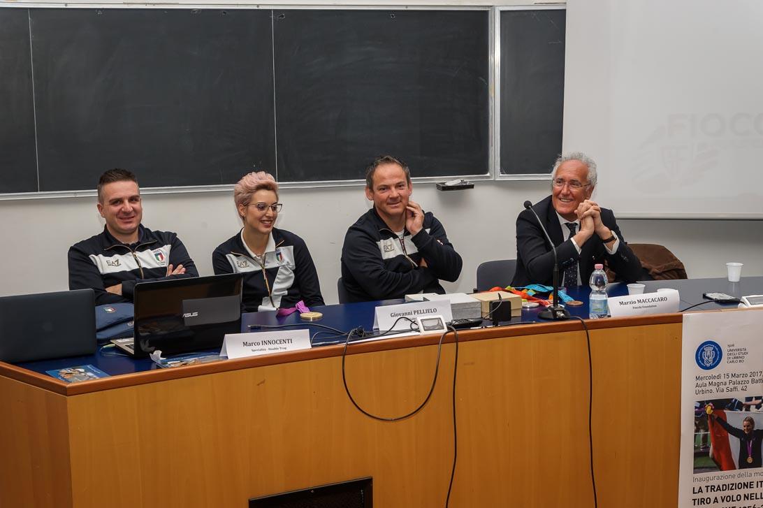URBINO - MARCH 15: Opening Cerimony of the Fiocchi Foundation Photo Exhibition at the Urbino University on March 15, 2017 in Urbino, Italy. (Photo by Nicolo Zangirolami)