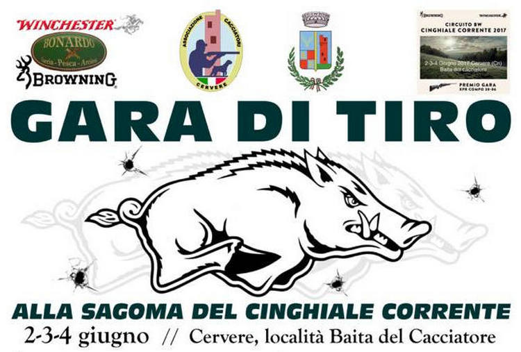 Gara di Tiro alla sagoma di Cinghiale Corrente a Cervere (CU) 2017