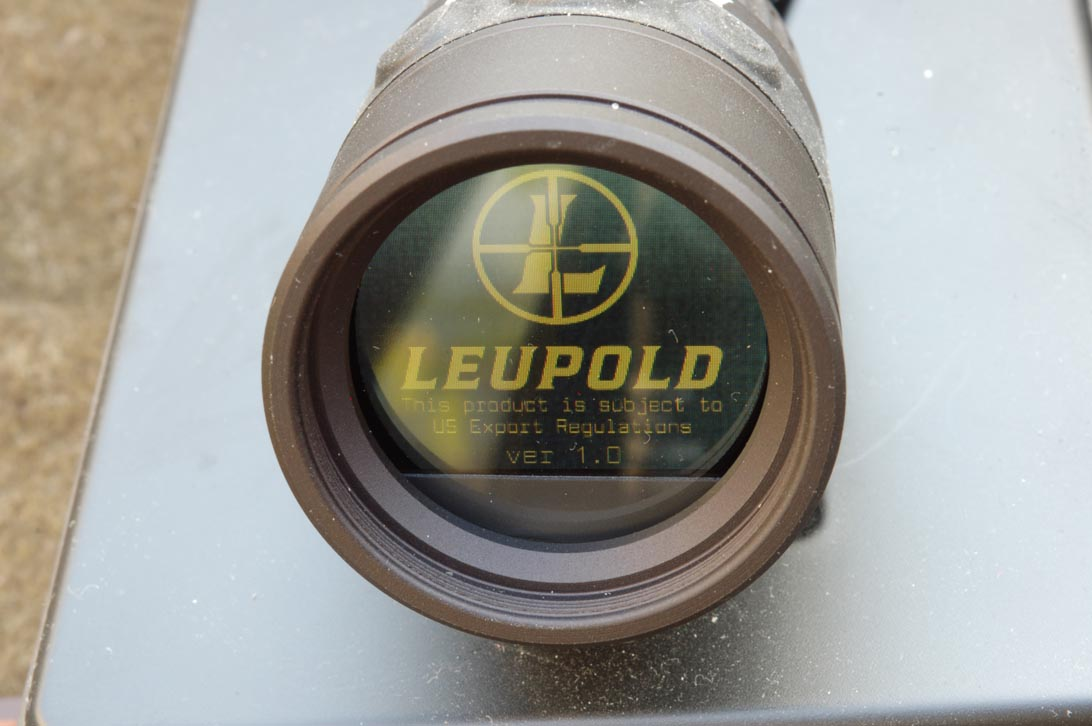 All'accensione dell'impianto sullo schermo appare per qualche secondo il logo della Leupold