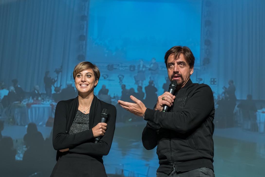 Valerio STAFFELLI e Jessica ROSSI alla festa di S. Barbara azienda FIOCCHI