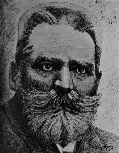 Foto di Hegewald (pseudonimo letterario di Freiherr Sigismund von Zedlitz e Neukirch; 1838- 1903). Sua l'idea originaria degli esami che dovevano validare il cane da caccia, come razza documentata e valutata regolarmente.