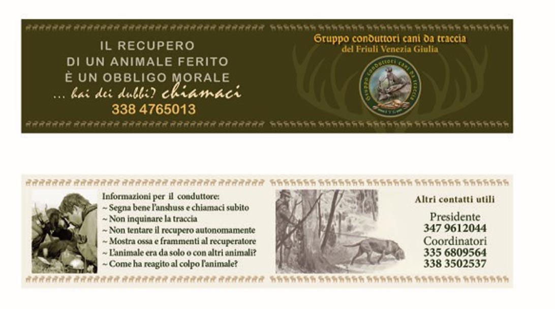 Il memorandum da distribuire ai cacciatori con un numero unico di chiamata e altri numeri utili da contattare h 24