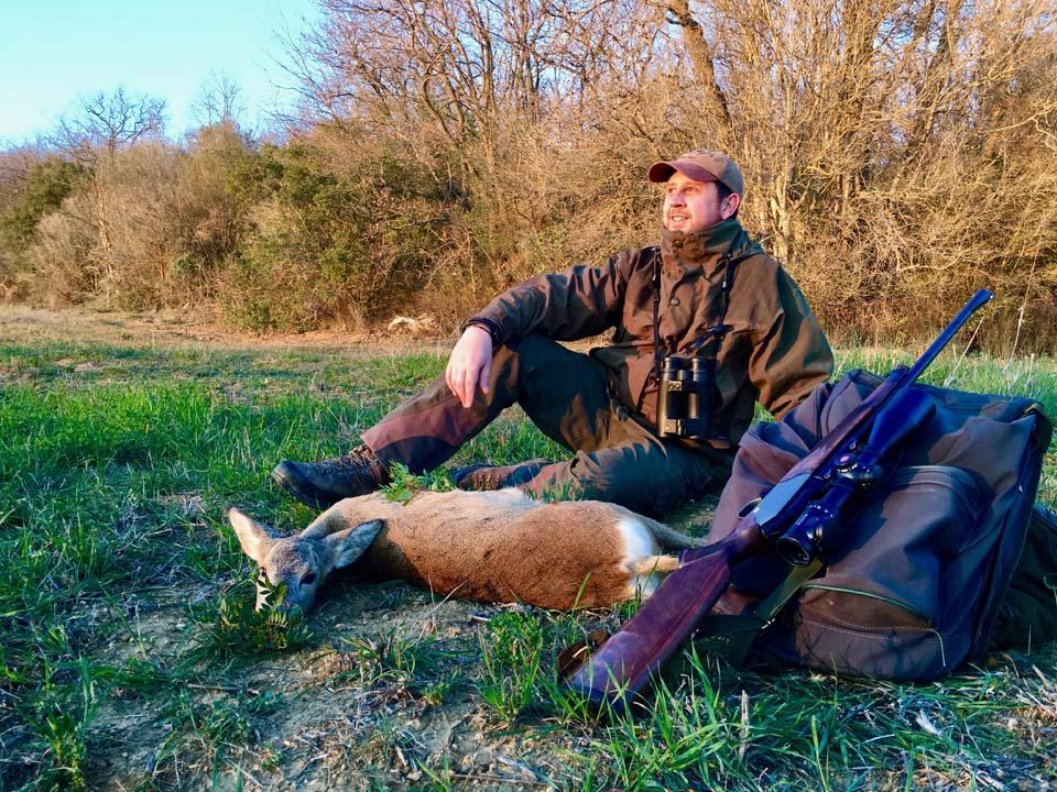 L'autore al termine dell'azione di caccia