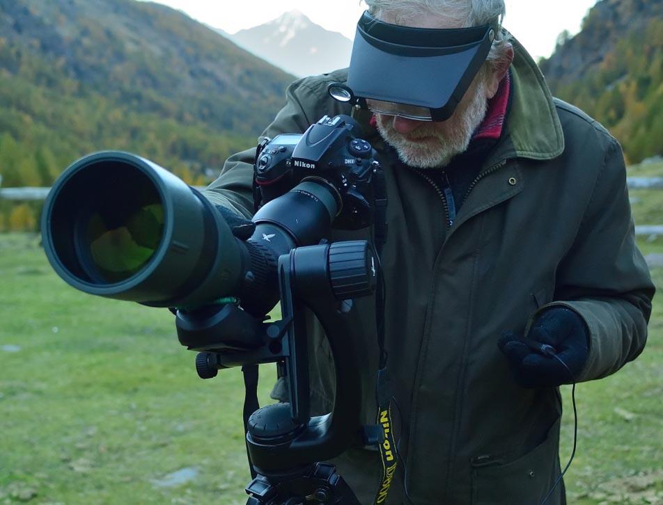Digiscoper in azione con la nuova testa PTH Swarovski Optik