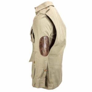 Particolari in pelle per la giacca Rigby Safari Jacket proposta nella sua classica colorazione