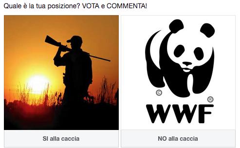 Sondaggio online sulla caccia