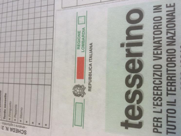 Calendario Venatorio Lombardia.La Regione Lombardia Sperimenta Il Tesserino Venatorio