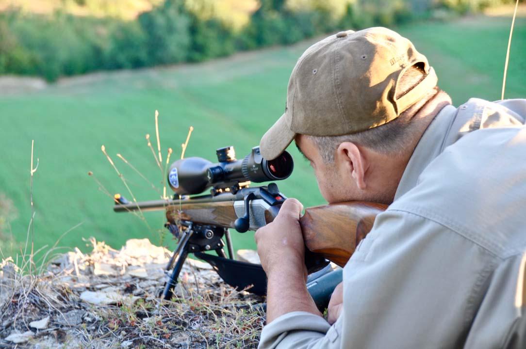 Caccia al capriolo | Francesco al momento del tiro