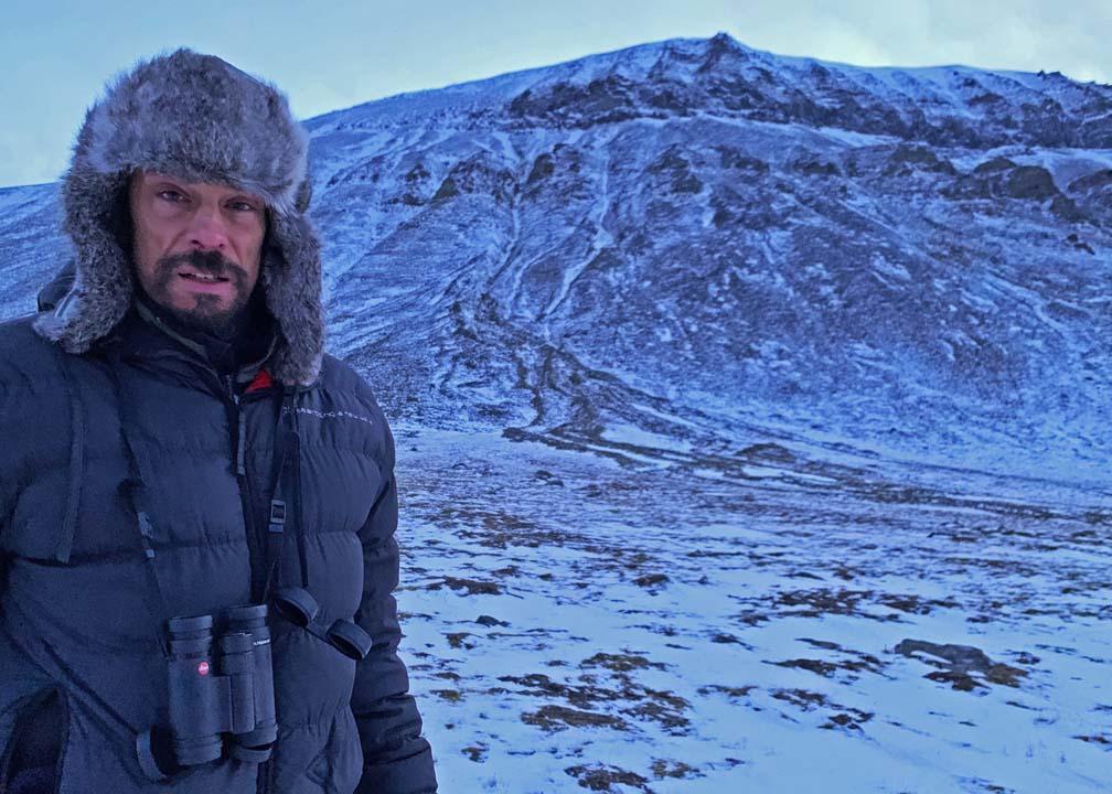 Stefano Unterthner tra i ghiacci