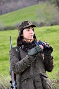 L'autore durante un'uscita di caccia al piccolo cervide