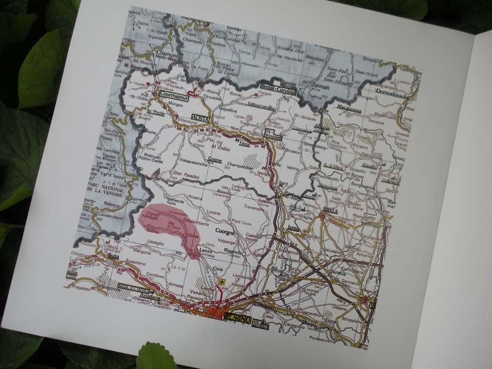 cartina libro di caccia