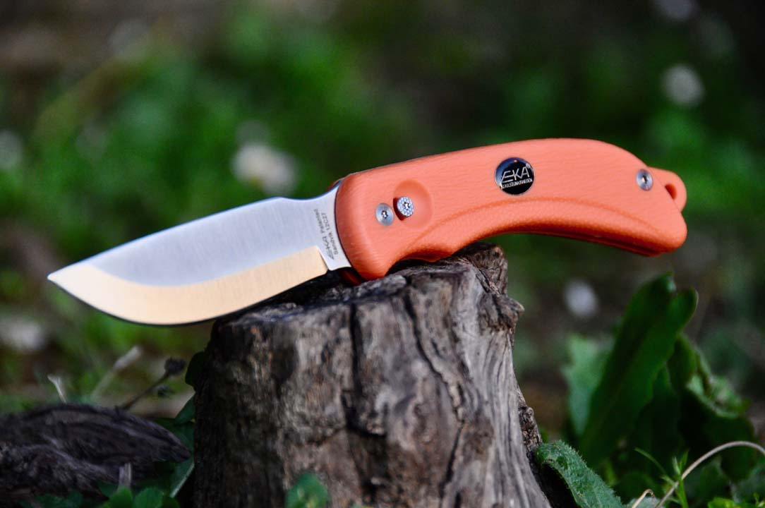 EKA g3 2 lame swingblad Coltello da caccia Grip Orange aufbrechklinge Coltellino