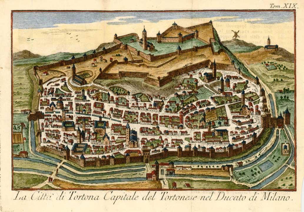 Carta a colori della città di Tortona